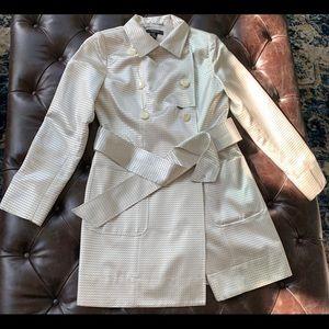 Cream fashion trench coat